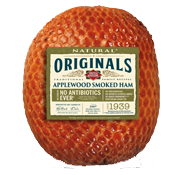 Slow-smoked ham using real apple wood hand-trimmed