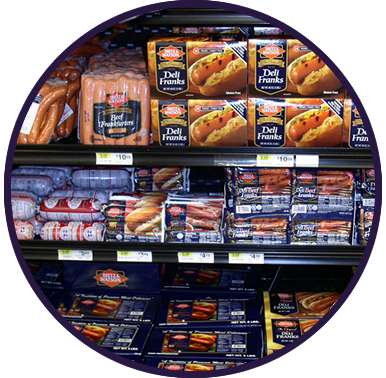 Distributing retail ready items, meats, cheeses, sausages, and more